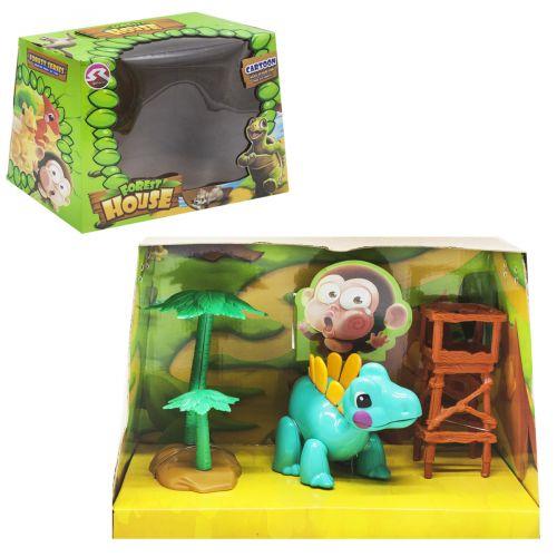 """Игровой набор """"Forest House"""" (бирюзовый динозаврик) T15/T18"""