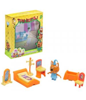 Кот Компот игрушка, Три кота, Игровой набор Спальня