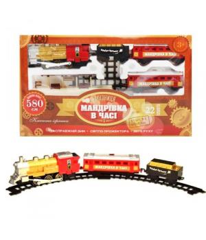 """Детская железная дорога ретро поезд """"Путешествие во времени"""", красный K1110"""