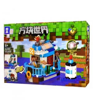 """Игрушка конструктор """"Minecraft - Майнкрафт - Майнкрафт"""", 470 дет QL0557"""