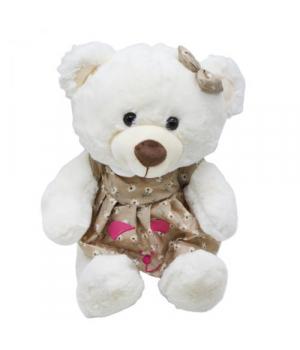 """Мягкая игрушка """"Мишка"""", в коричневом платье B1014"""