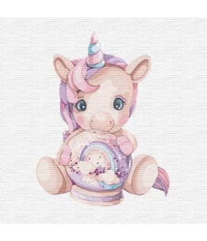 "Картина по номерам ""Розовый единорог"" ★★★ КНО2357 30х30 см"