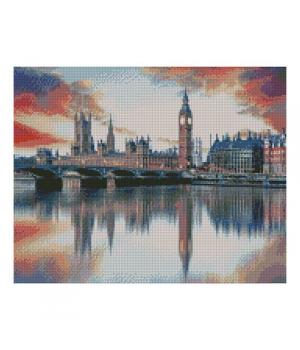 """Алмазная мозаика """"Отражение Лондона в Темзе"""" FA20107 40х50 см"""