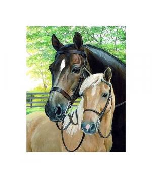 """Алмазная мозаика """"Две лошади в парке"""" FA40432 40х50 см"""