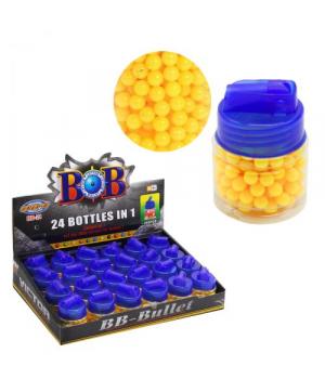 Пластиковые пульки для оружия 4800шт, 6 мм, упаковка 24 шт, в баночке 200 шариков