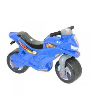 Детский мотоцикл толокар синий, 70 см, Орион