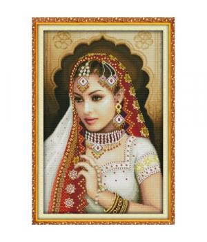 """Вышивка крестиком по номерам """"Индийская красавица 2"""" R246"""