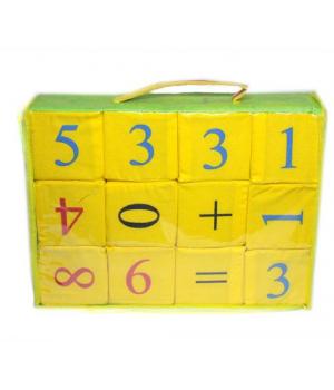 Мягкие кубики с цифрами и математическими знаками, детские