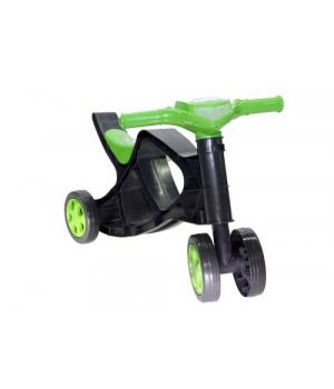 Детская каталка беговел ролоцикл, (чёрно-зелёный), Doloni Toys
