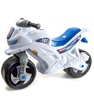 Детский мотоцикл толокар Полицейский, белый, Орион