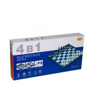 Магнитная игра 4 в 1 (шахматы, шашки, нарды, карты) 8188-11