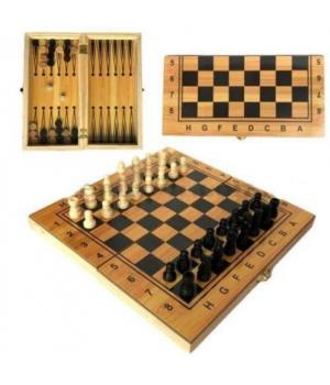 Игра 2 в 1 (шахматы и нарды) на деревянной доске IGR43