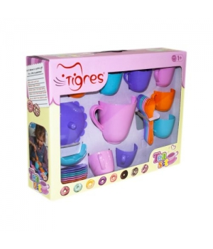 """Детская посудка игрушечная """"Ромашка"""", 28 элементов, Тигрес"""
