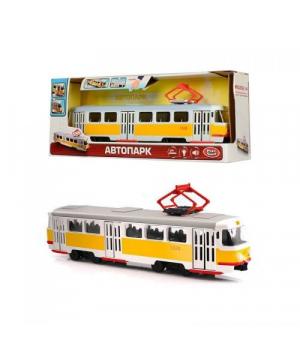 Игрушка трамвай Автопарк, Желтый, со звуком