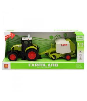 "Игрушка трактор на батарейках, с прицепом,""FARMLAND"", WY900L"