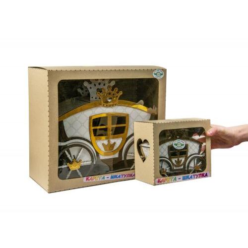 Деревянная карета-шкатулка (большая) С2Д