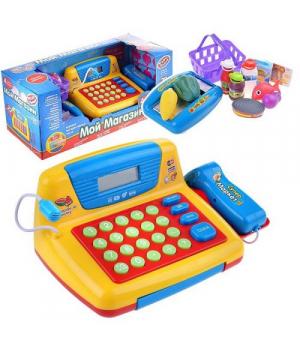 Игрушечный кассовый аппарат для детей, озвученный