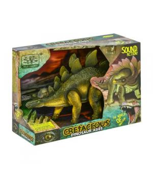 """Игрушка динозавр на батарейках, свет, звук, движение, """"Стегозавр"""""""