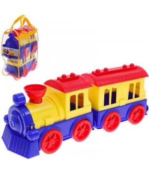Поезд с вагоном, пластиковый 0651