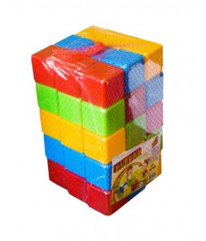 Детские игровые кубики Цветные 45 эл