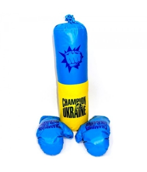 Груша боксерская подвесная детская с перчатками, Украина, 1,6 кг, M-UA