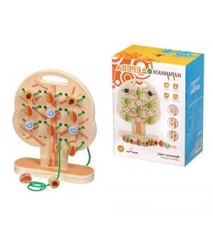 Шнуровка дерево обучающая игра, Руди