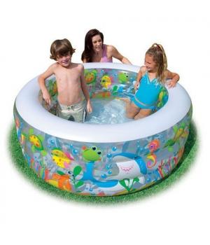 """Детский надувной бассейн со сливом """"Аквариум"""" Intex"""