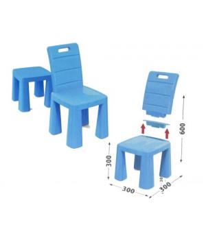 Детский пластиковый стульчик табурет (синий) 04690/1