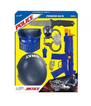 Детский полицейский набор с каской, маской, автоматом, SWAT Police