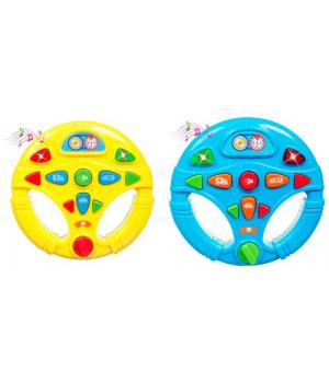 Развивающая игрушка руль, с подсветкой и звук.эффектами, Bebelino