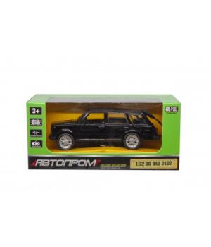 Игрушка машина ВАЗ 2102, черная, 1:32-1:36, Автопром