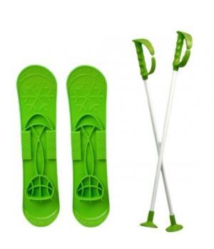 """Детские лыжи """"SKI BIG FOOT"""" (зеленые) 6586"""