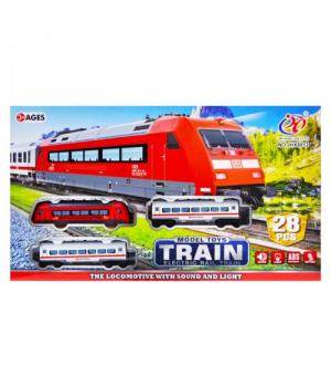 "Железная дорога на батарейках ""Model Toys Train"" на 28 деталей JHX8812"
