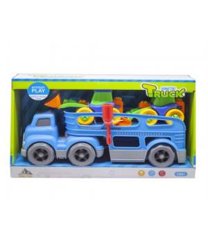 Автовоз з машинками-конструкторами (блакитний) 933-155