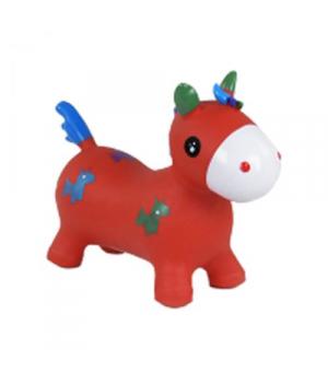 Животное прыгун резиновый Единорог, (красный) C37880