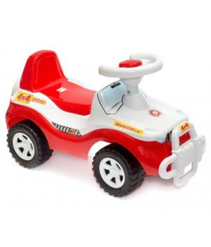 Машина каталка Джип с рулем, толокар красный, Орион