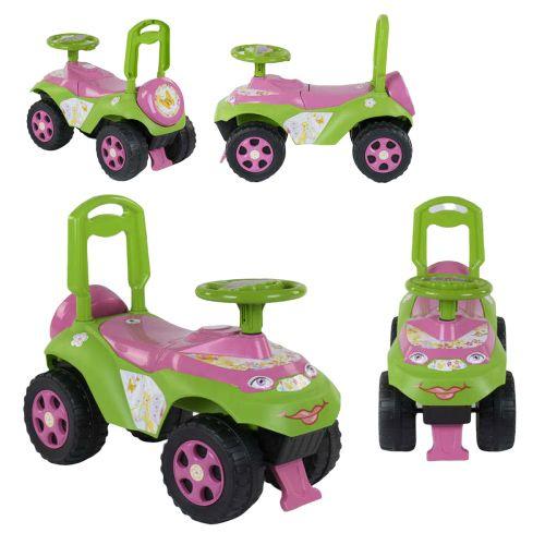 Машинка-каталка толокар зелено-розовый, Doloni Toys
