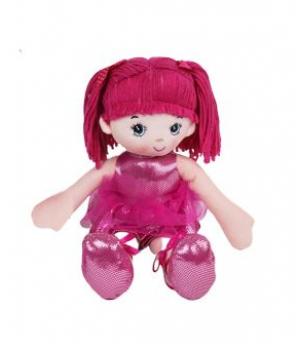 Кукла мягкая (малиновый) С38941