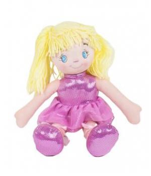 Кукла мягкая с желтыми волосами (розовый) С38941