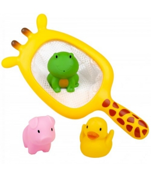 Сачок для ванны с игрушками, Жираф, BeBelino