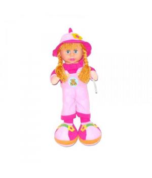 Кукла мягкая с чепчиком (розовый) 260818