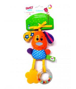 Игрушка погремушка подвеска на коляску, Собачка, Fancy