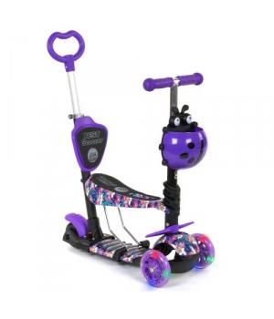 Самокат с родительской с ручкой, фиолетовый, от 2 лет, Best Scooter