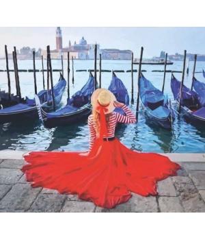 """Картина по номерам """"Набережная Венеции"""" ★★☆ N00013225 35х45 см"""