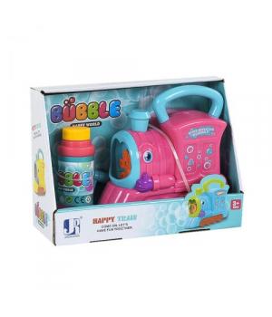 """Машина для мыльных пузырей, """"Поезд"""" (розовый), P8798"""