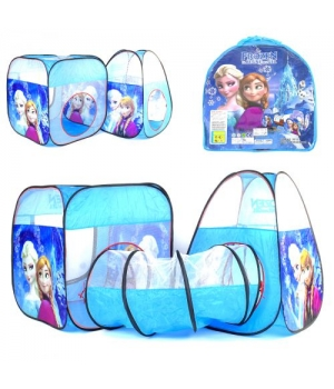 """Детская палатка для девочки, с тоннелем """"Холодное сердце"""", Палатка туннель для детей"""