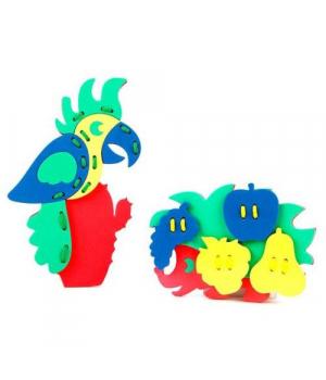 Игрушка шнуровка Ёжик и попугай, 608