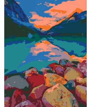 "Картина по номерам ""Озеро Луиза, Канада"" ★★★ N00013334 35х45 см"