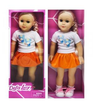 """Большая детская кукла блондинка """"DEFA"""" оранжевый 5510"""
