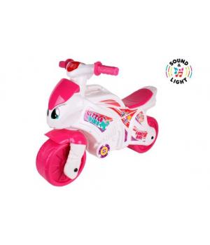 "Беговел Каталка ""Мотоцикл"", розовый 7204"